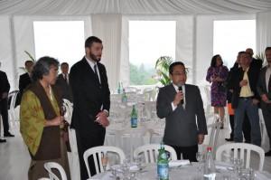 Auch der japanische Botschafter hielt eine Rede.