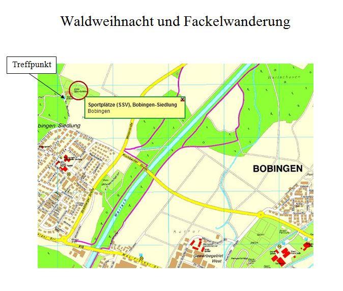 Waldweihnacht und Fackelwanderung @ Sportplätze SSV Bobingen Siedlung