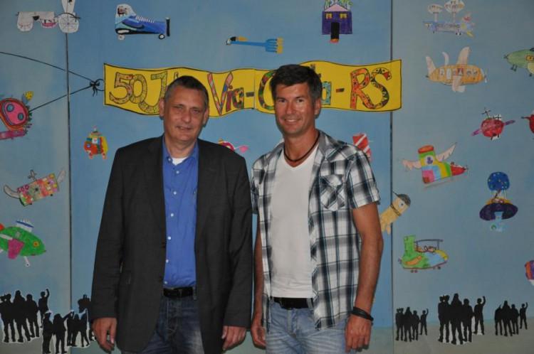 Schulleiter RSD Peter Schwarz und Manfred Birling (v.l.)
