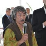 Aosaka Sensei begrüßt seine über 200 Gäste.